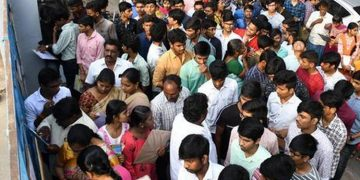 Students Throng Hyderabad Intermediate Education