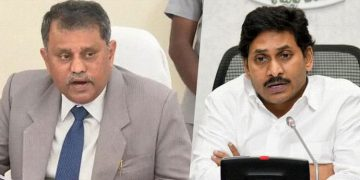Nimmagadda Ramesh Kumar and YS Jagan