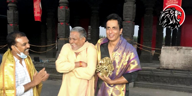 Felicitation of Sonu Sood Acharya Movie Shoot