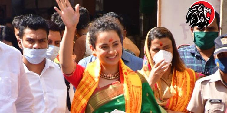 Kangana Ranaut visits Siddhivinayak Temple