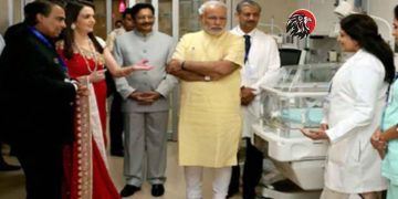 fake news on pm modi visits ambani's grandson