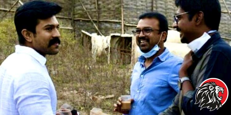Ram Charan Visits 'Chiranjeevi Acharya' Movie Sets