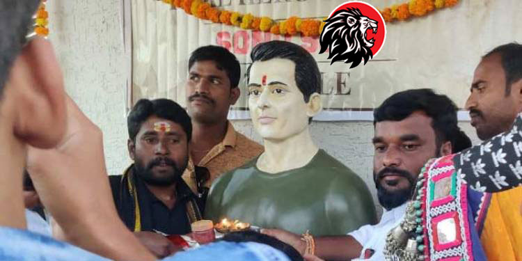 Indian Actor Sonu Sood Temple Telangana