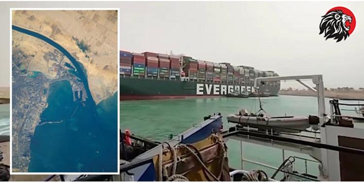 ship stucked in suez canal - www.theleonews.com