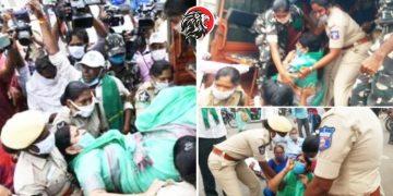 ప్రకాశం బ్యారేజీ వద్ద పోలీసుల నిర్బంధం - www.theleonews.com