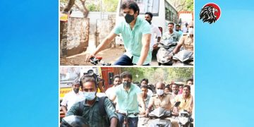 Actor Vijay Cycles To Polling Booth - www.theleonews.com