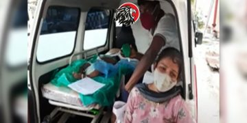 Child died in ambulance due to non availability of bed at kgh