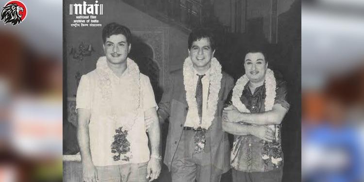 Dilip Kumar With NTR and MGR