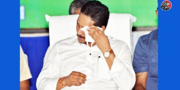 Jagan Wipes Face With Mask
